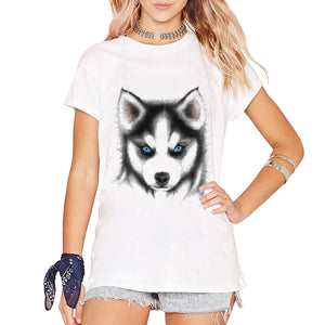 Clothing Cute Dog Siberian Husky Printed T-Shirts