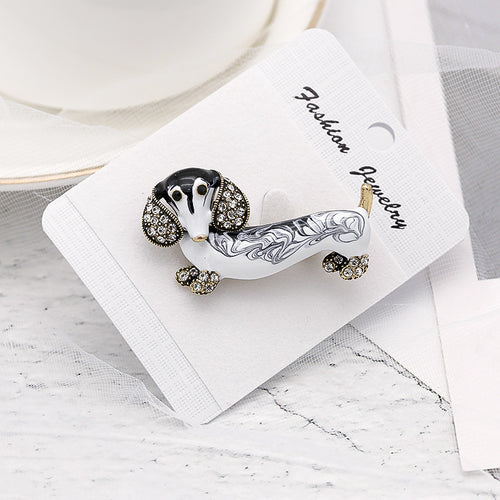 Cute Dachshund Dog Brooches For Women Fashion Jewelry