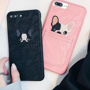 Cute Cartoon French Bulldog Pocket Phone Cases