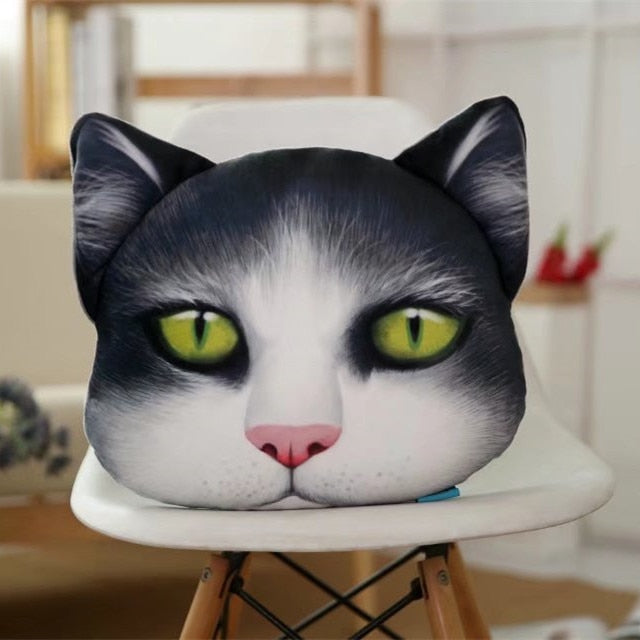 Animal Pillow 3D Printed Cat Pig Dog Face Neck Pillow Headrest Lovely Auto Safety Headrest Car Interior