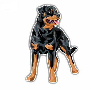 2.5CMx18CM Rottweiler Dog Car Decoration Car Sticker