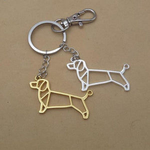 Dachshund Keychains Gold Color Silver Jewellery