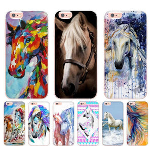 Watercolor Horse Print -  iPhone case