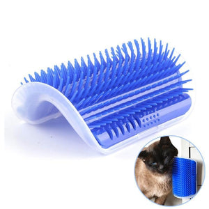 Corner Pet Brush Comb Play Cat Toy Plastic Scratch Bristles Arch Massager Self Grooming Cat Scratcher