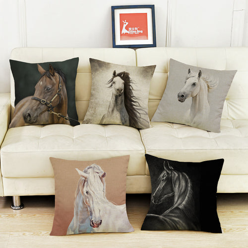 World Horse Breeds Thoroughbred horse Arabian horse pillow case