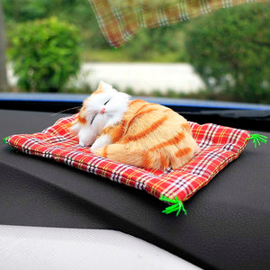 Car Ornaments Cute Simulation Sleeping Cats Decoration Automobiles Lovely