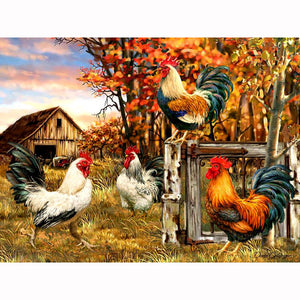5D Diamond Painting Cross Stitch chicken
