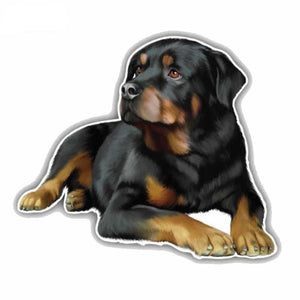 11CMx9.6CM Rottweiler Dog Car Decoration Sticker