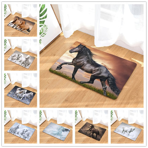 Mats 9 Styles Horse Print Doormats Bathroom Kitchen Carpet Home Floor Mats Anti-Slip