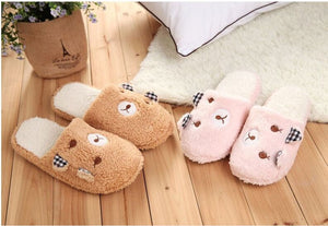 Pig Cute Cotton Fabric Home Slippers Winter  Indoor