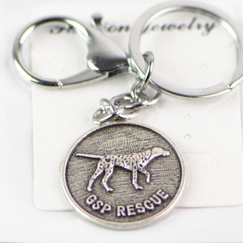 German Shorthair Pointer Keychain Metal Jewelry 30*30mm
