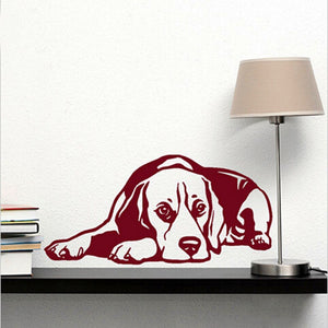 Dog Decal Beagle Wall Sticker Dog Is Man's Most Loyal Partner