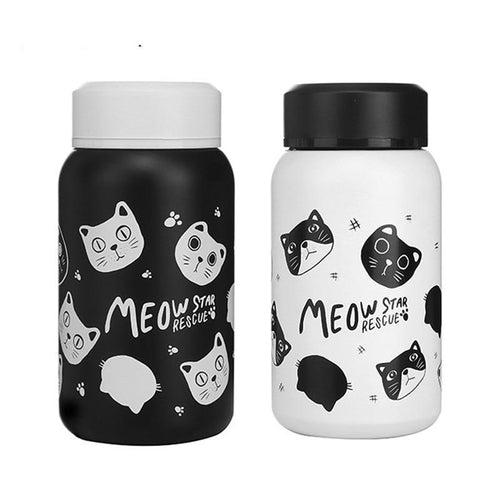Mini Cat Thermos 280/350ml Insulated Tea Cup Thermos Stainless Steel Water Bottle