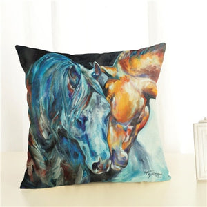 High Quality Horse Home Decorative Cover Throw Pillowcase Square Cotton