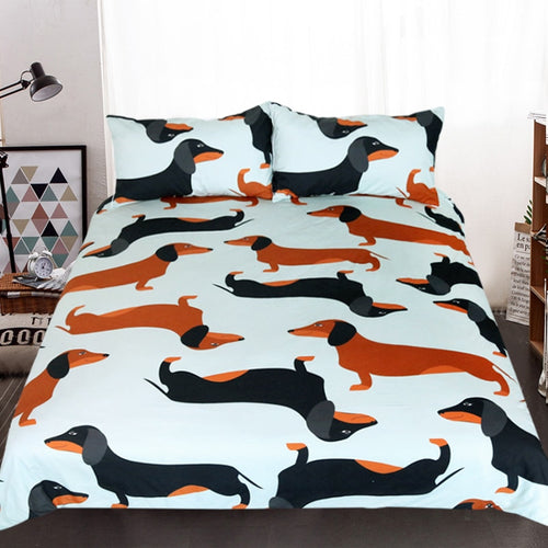Bedding sets 3 Piece for Dachshund Lovers - sk03