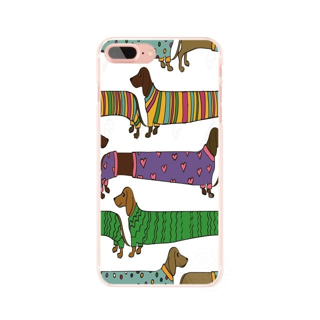 Dachshund doxie flower dog phone case for iphone