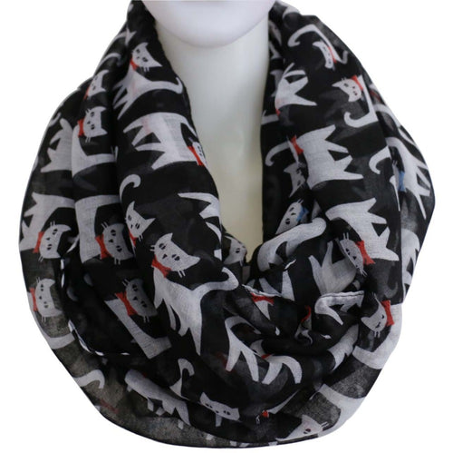 New Fashion Green Multicolor Cat Scarves Black Infinity Loop Scarf For Women