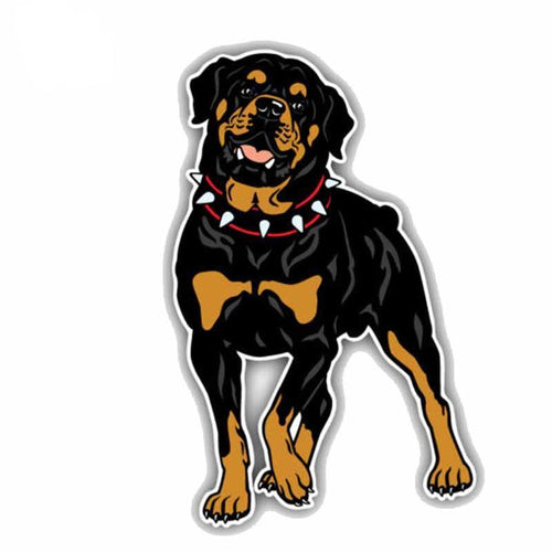 8.9CMx14CM Rottweiler Dog Car Bumper Decoration Decal Sticker