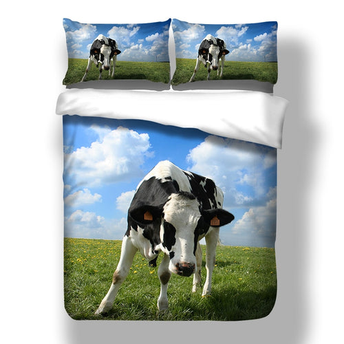 Cow Bedding Set Horse Duvet Cover Quilt Cover Bed Cover Pillow Cases 3pcs