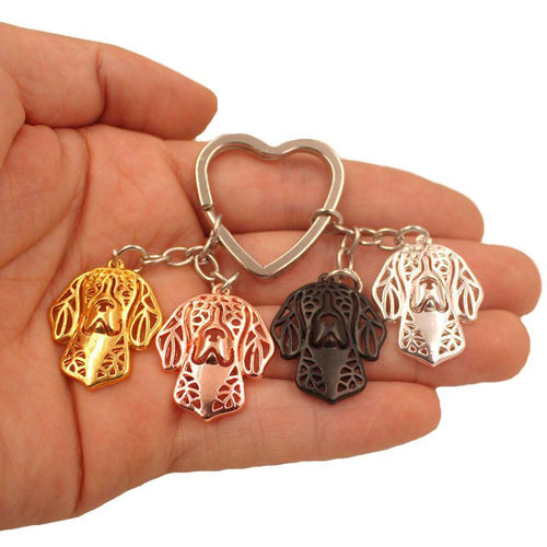 New Beagle Dog Animal Cute Gold Silver Plated Keychain Jewelry