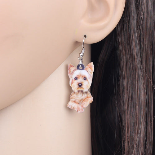 Cute Yorkshire Terrier Earrings Fashion Jewelry
