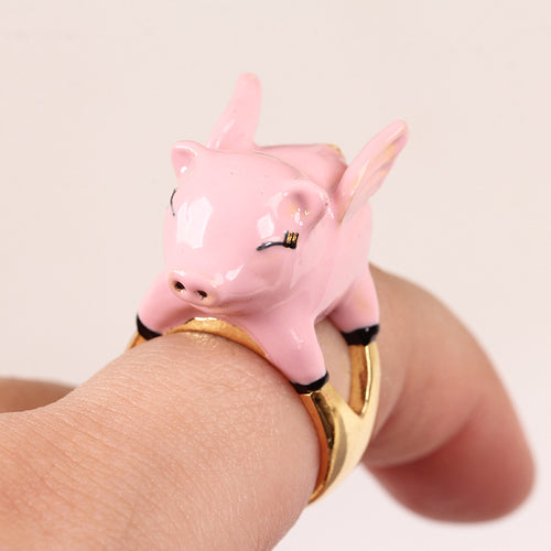New Design Cute Pig Set Ring