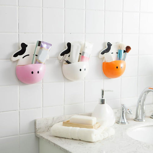 Cute Cow Toothbrush Toothpaste Holder