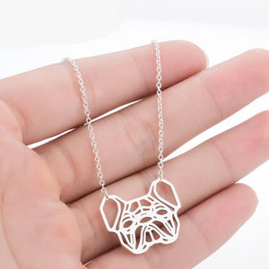 French Bulldog Dog Silver Necklace & Pendants