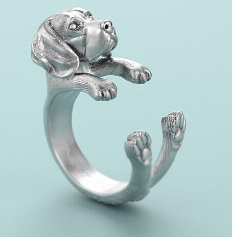Beagle Dog Ring Beagle Ring jewelry for pet lovers