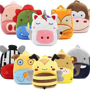 Cute Animal Kids Backpack - Cow, pig, horse, dog, bear, monkey, elephan,fox,bee,giraffe