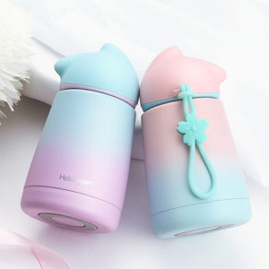 Cat Stainless Steel Thermos Mug Thermo Milk Hot Water Bottle Cat Vacuum Cup For Kid