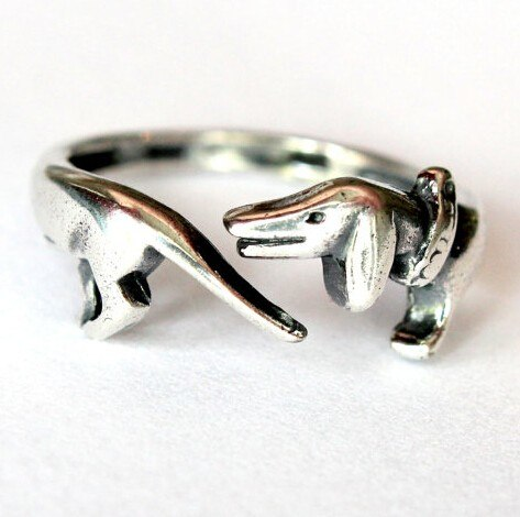 Dachshund adjustable Ring free size jewelry
