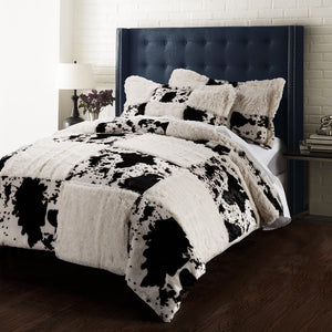 Printing Pv velvet  Quilt Cover Set  cow including 1 duvet cover & 2 pillow sham