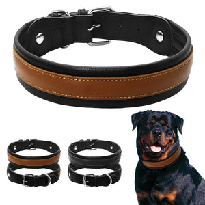 Durable Large Dog Collar Soft Padded Medium Dogs Collars for Pitbull Rottweiler Bulldog Labrador