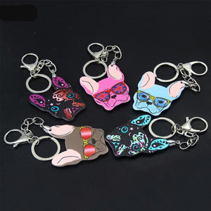 French Bulldog Keychain Bag Charm Pendant Jewelry