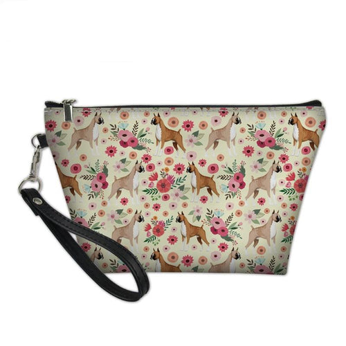 Cosmetic Bags for Girls Boxer Dog