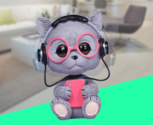 Car Ornament Shaking Head Doll Cute Automobiles Cat Toys