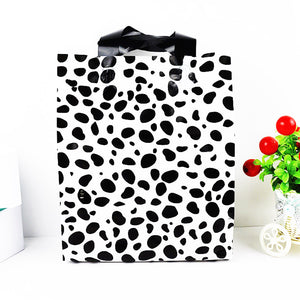 25x35x8cm 25 PCS  Cow spot Plastic Bags Cosmetic Favor Gift Bags
