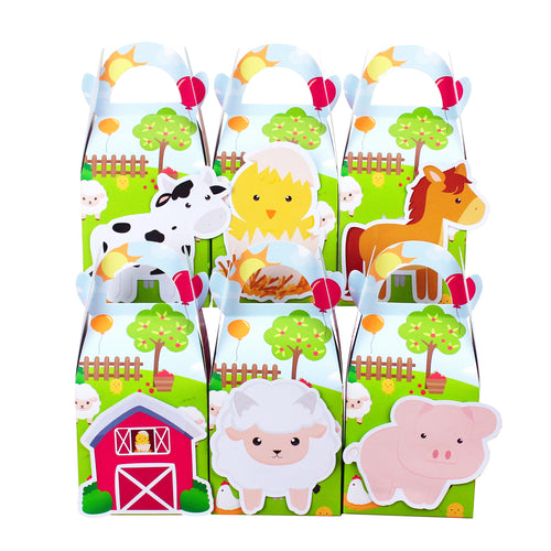Farm Animal Favor Box Candy Box Gift Box Kids Birthday Party