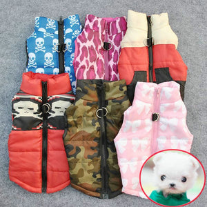 Cloth Printing Pet Warm Clothing for French Bulldog Chihuahua