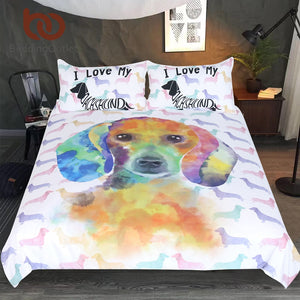 Bedding sets 3-Piece for Dachshund Lovers - sk01