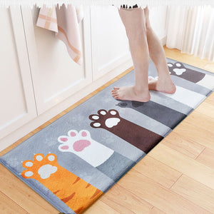 Cat Doormat Floor Mat Anti-slip Water Absorption Carpet Kitchen Toilet