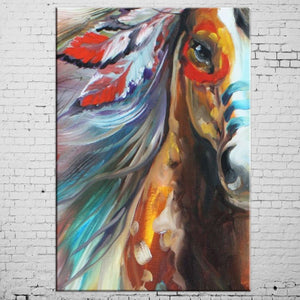 Horse Oil Paints Abstract