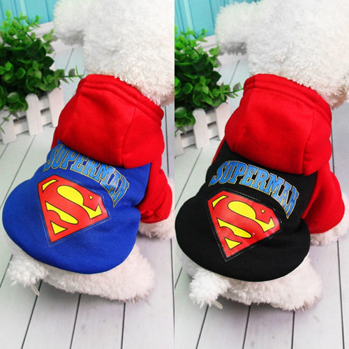 Superman Dog Clothes For Small Dogs French Bulldog Chihuahua Clothes