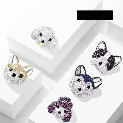 FRENCH BULLDOG Siberian Husky Poodle jewelry w/ Gift Box