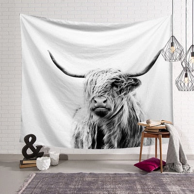 New Cow Wall Hanging Tapestry Cover Beach Towel Throw Blanket Picnic