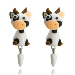 Cow Stud Earring DIY Handmade