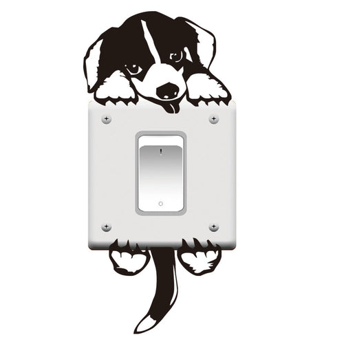 Dog Puppy Beagle Mural Switch Wall Stickers Home