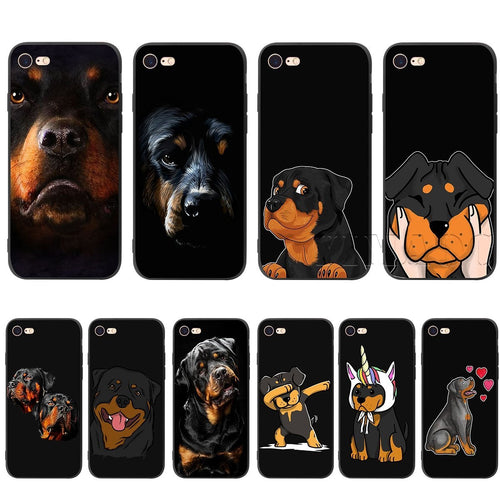 Rottweiler Dog Silicone Soft phone Case