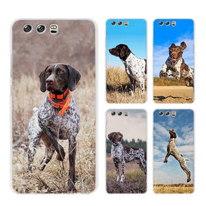German Shorthaired Pointer Hard Transparent phone Case